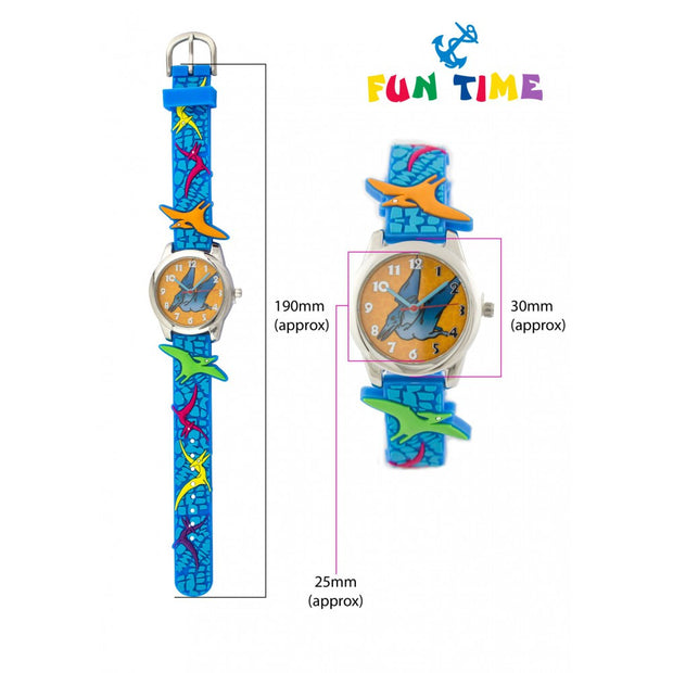 Fun Time Dinosaur Silicon Kids Watch (Pterodactyl)
