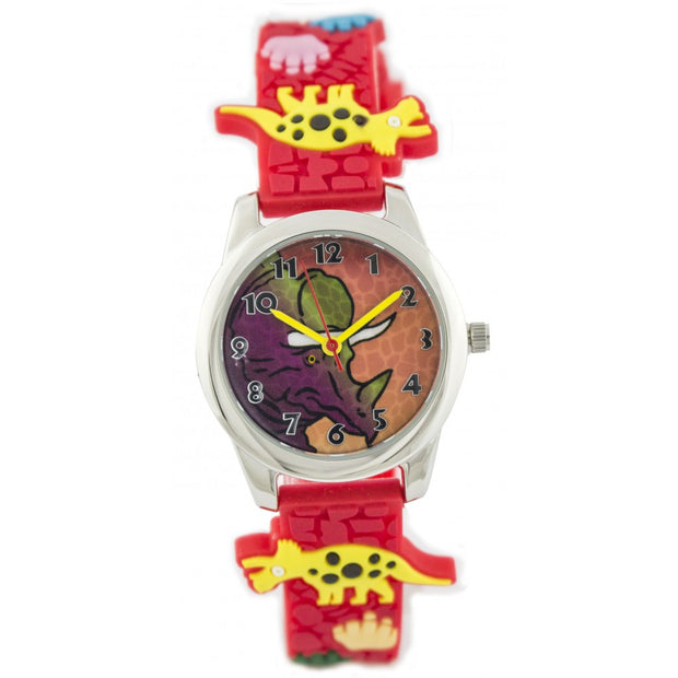 Fun Time Dinosaur Silicon Kids Watch (Triceratops)