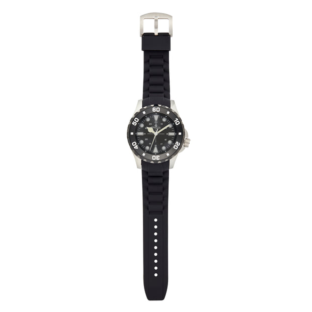 Bermuda Watch Co Shelly Bay Smart Light Black and Silver Watch Mens