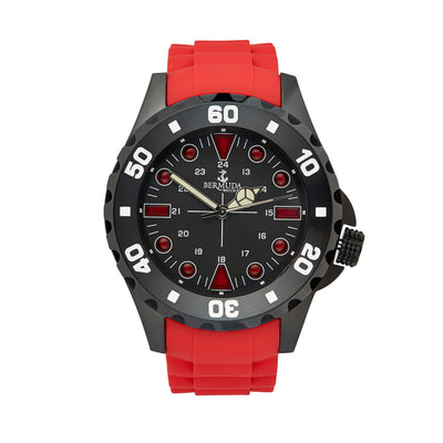 Bermuda Watch Co Shelly Bay Smart Light Red and Black Watch Mens