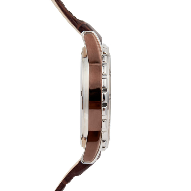 Bermuda Watch Co Hamilton Silver, Black and Brown Chronograph Watch Mens