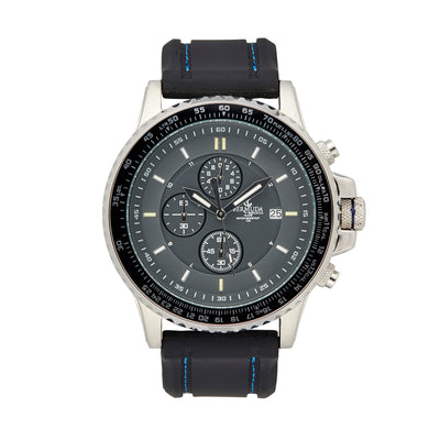 Bermuda Watch co Tuckers interchangeable, Black, Silver and Blue GTLS Chronograph Watch Mens