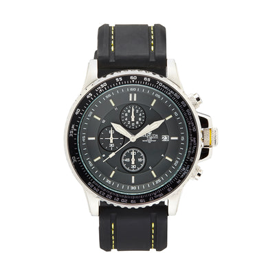 Bermuda Watch co Tuckers interchangeable, Black, Silver and Yellow GTLS Chronograph Watch Mens