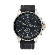 Bermuda Watch co Tuckers interchangeable, Black, Silver and Orange GTLS Chronograph Watch Mens