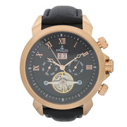 Bermuda Watch Co Somerset Rose Gold and Black Automatic Watch Mens