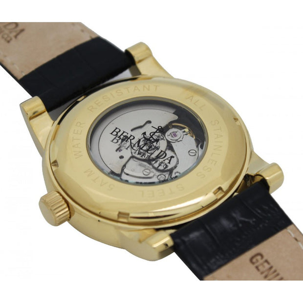 Bermuda Watch Co St George Gold and Black Automatic Watch Mens