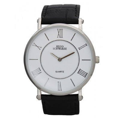 Hugo Schwarze, Kendall Silver, White and Black Watch Mens