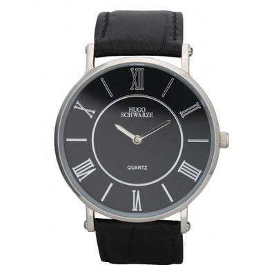Hugo Schwarze, Kendall Silver and Black Watch Mens