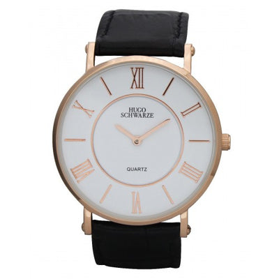 Hugo Schwarze, Kendall Rose Gold, White and Black Watch Mens