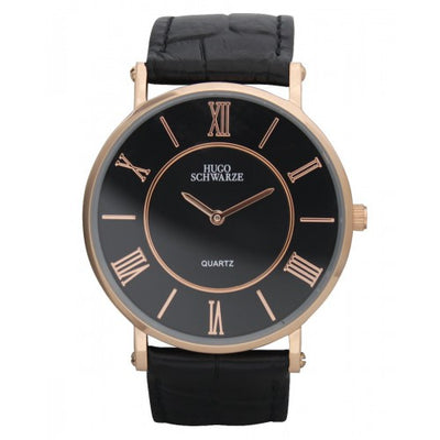 Hugo Schwarze, Kendall Rose Gold and Black Watch Mens