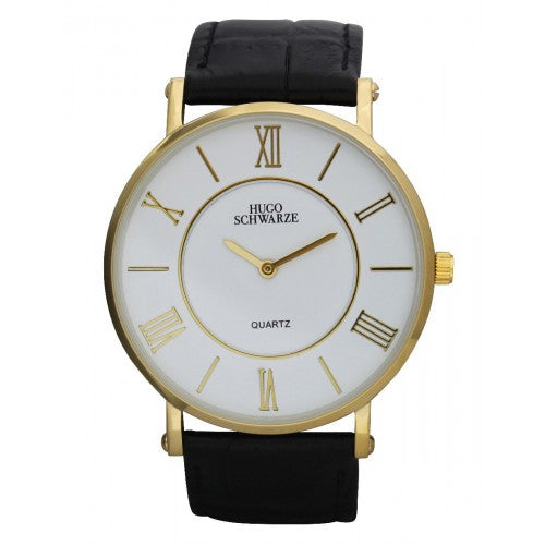 Hugo Schwarze, Kendall Gold, White and Black Watch Mens