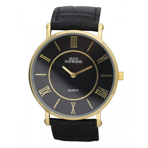 Hugo Schwarze, Kendall Gold and Black Watch Mens