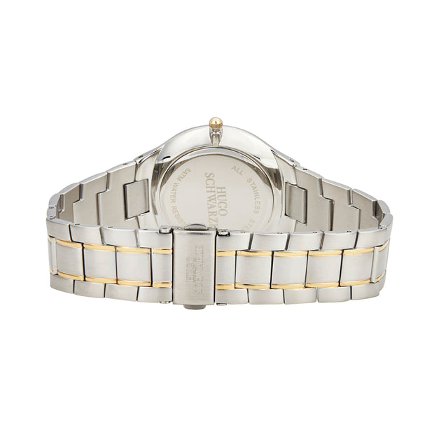 Hugo Schwarze Kahlo Silver and Gold and White Bracelet Watch Mens