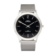 Hugo Schwarze Theodore Silver, Black and Grey Slim Interchangeable Watch Mens