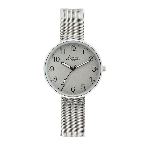 Annie Apple Empress Interchangeable Silver Mesh Wrist to Nurse Watch Ladies