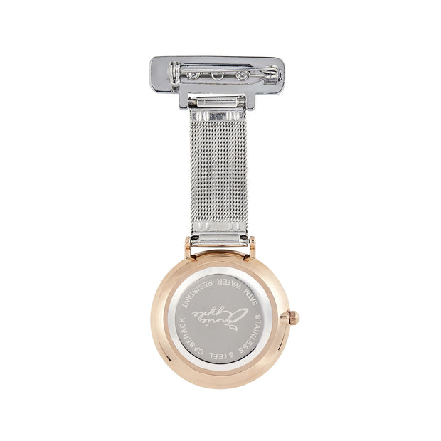Annie Apple Rose Gold/Silver Mesh Fob 35