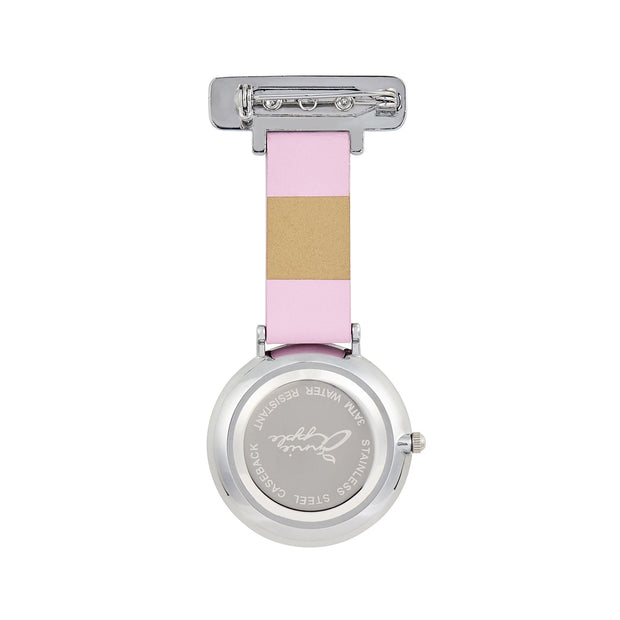 Annie Apple Silver/Pink Leather Fob 35