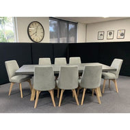 ANTON 9 Piece Dining Set- Light Grey dixiecummings