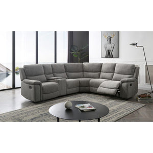 Atlas 6pc Corner Modular with Twin End Manual Recliners vivin