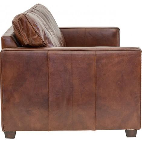 CHELSEA 2 SEATER SOFA IN AGED LEATHER - First Choice Furniture