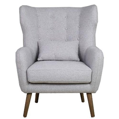 Charlie Arm Chair - Silver - First Choice Furniture