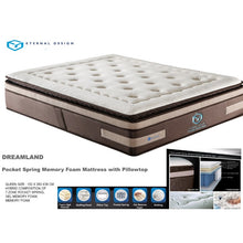 Load image into Gallery viewer, Dreamland  7 Zone Pocket Spring Premium Mattress eternal design