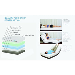 Flexicare Adjustable Mattress Gel Queen 1 piece FLEXICARE