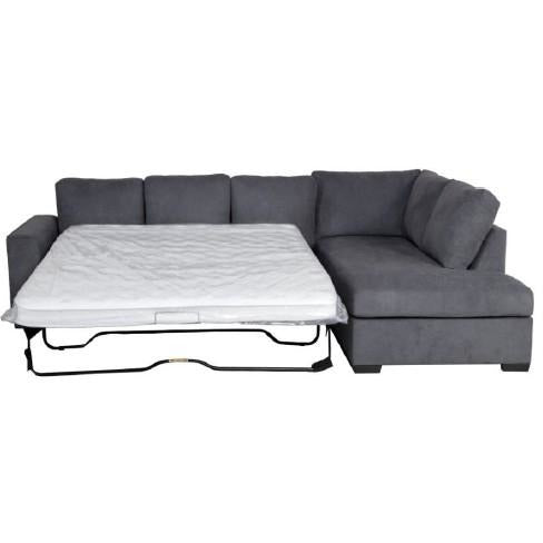 Kristie 3 Seater Fixed Sofa Bed with Chaise vivin