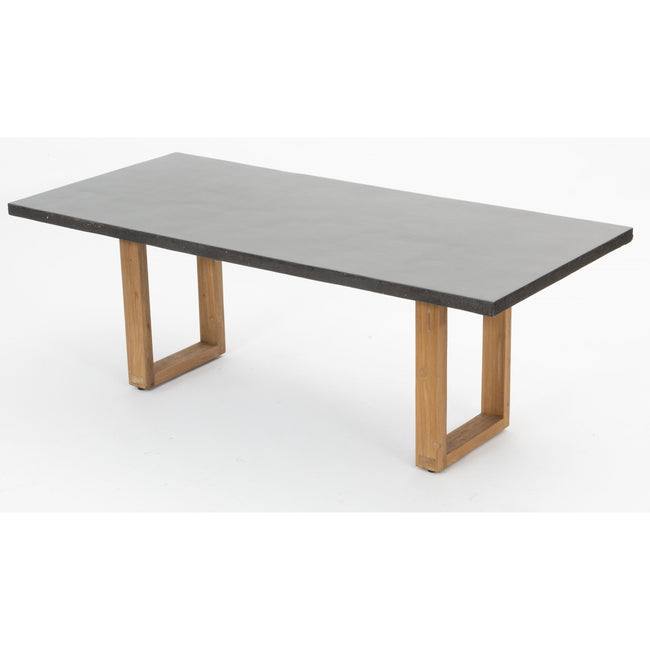 LAVA DINNING STONE TABLE CONCRETE LOOK - First Choice Furniture