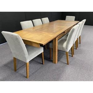 MADDISON EXTENSION DINING TABLE ASH/NATURAL ZL-OAK 180CM TO 280CM dixiecummings