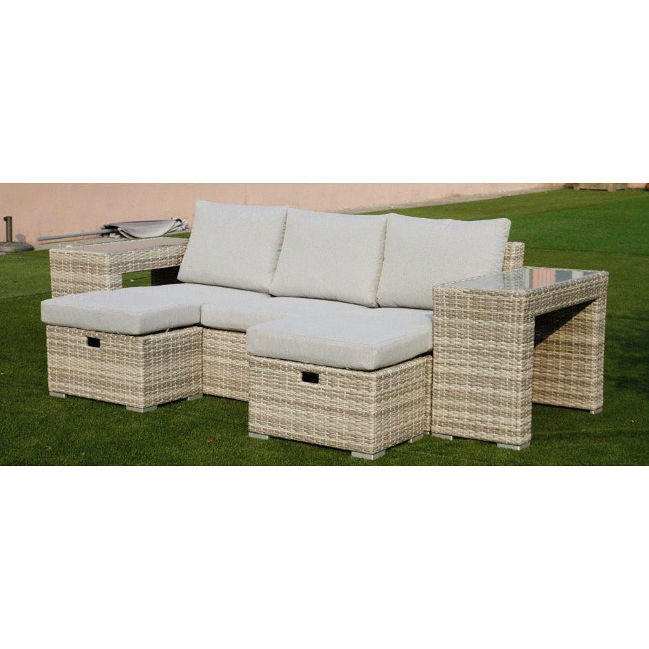 Polo 5pc Sofa Set-Light Grey vivin