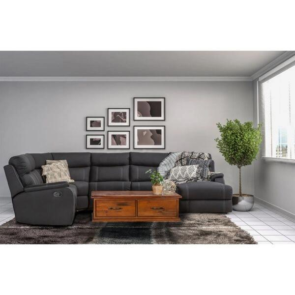 Porter 6 Seat Modular Lounge With Sofa Bed - Onyx dixiecummings