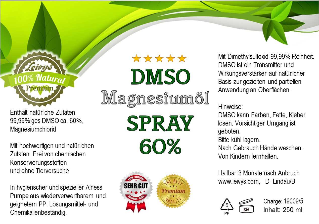 DMSO Spray, DMSO Magnesium Spray, DMSO Sprayflasche, DMSO Magnesiumchlorid