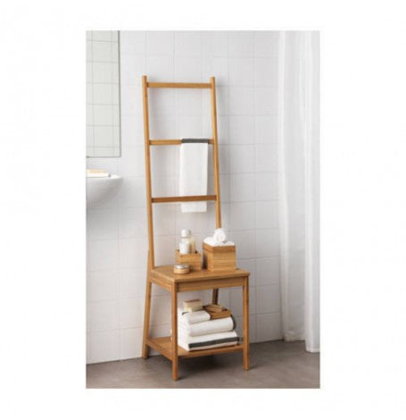 IKEA RÅGRUND TOWEL RACK CHAIR 140X39CM BAMBOO