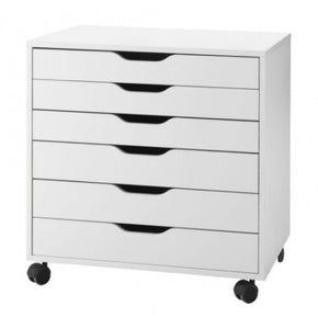 IKEA ALEX DRAWER UNIT ON CASTORS WHITE 67CM x 66CM