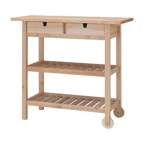IKEA FÖRHÖJA KITCHEN TROLLEY BIRCH 100X43CM