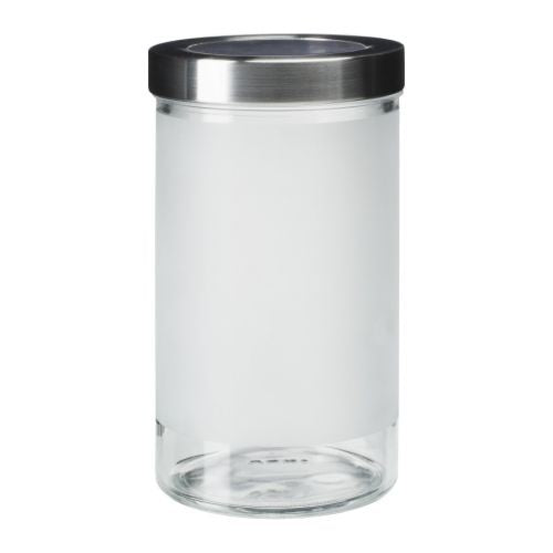 IKEA DROPPAR JAR FROSTED GLASS 900ML