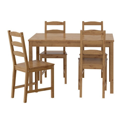 IKEA JOKKMOKK TABLE 4 CHAIRS ANTIQUE STAIN