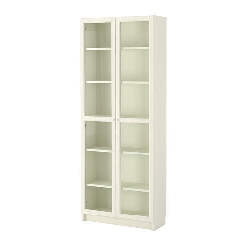 IKEA BILLY / OXBERG BOOKCASE 80X202X28CM WHITE