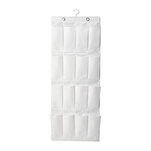 IKEA SKUBB HANGING SHOE ORGANIZER WITH 16 POCKETS WHITE 150CM x 55CM