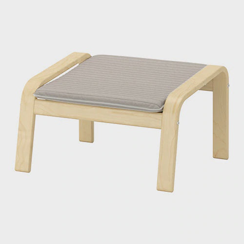 IKEA POANG FOOTSTOOL LIGHT BEIGE/BIRCH