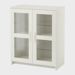 IKEA BRIMNES GLASS CABINET WITH DOORS