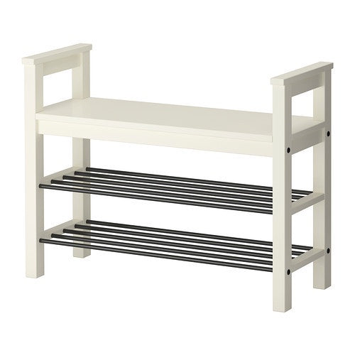 IKEA HEMNES BENCH/SHOE STORAGE 85X32CM