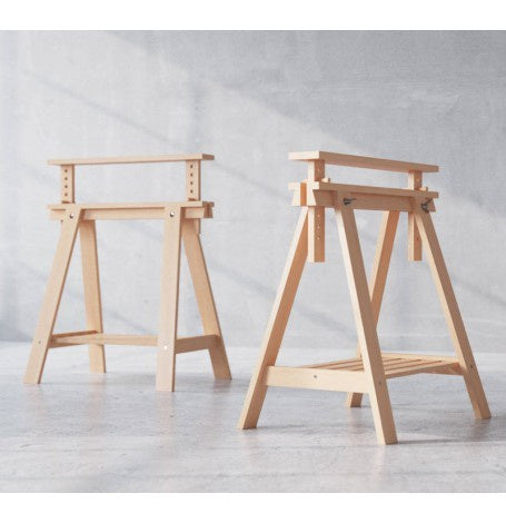 IKEA FINNVARD TRESTLE 70X60CM BIRCH PAIR