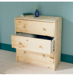 IKEA RAST CHEST OF 3 DRAWERS 62X70CM PINE