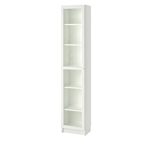 IKEA BILLY / OXBERG BOOKCASE WHITE 40CM x 28CM x 202CM
