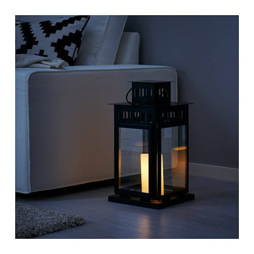 IKEA BORRBY LANTERN FOR BLOCK CANDLE 28CM