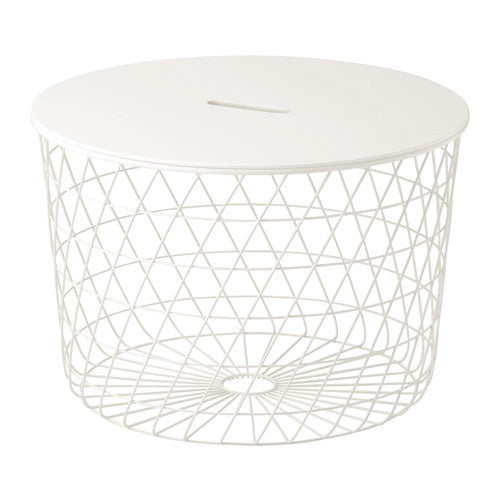 IKEA KVISTBRO STORAGE TABLE 61CM WHITE
