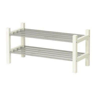 IKEA TJUSIG SHOE RACK 79CM WHITE