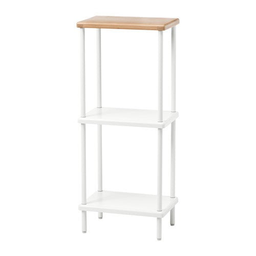 IKEA DYNAN SHELF UNIT 40X27X96CM WHITE-BAMBOO